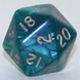 Polydice 20 sided Pearl