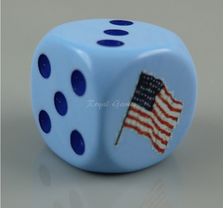 Set Federal Army 6 dice  Dice 16 mm.