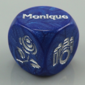 Custom dice for a wedding