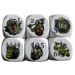 Set 6 dice Orc Dice 22 mm.