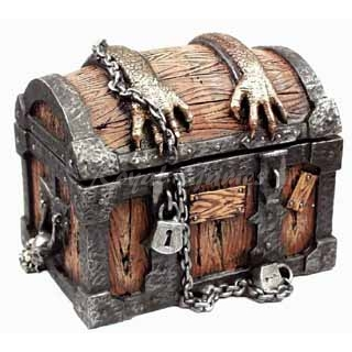 Baúl Treasure Chest con 9 dados poliédricos