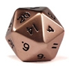 Jumbo 20 Sided Metal Poly Dice Crom