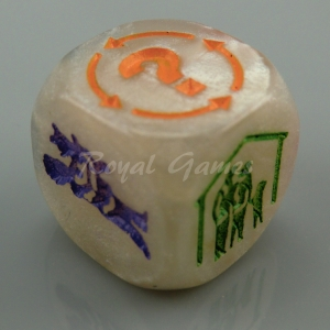 Special Dice on face one (design in different colour on each face)