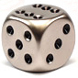 Brushed steel metal spot dice