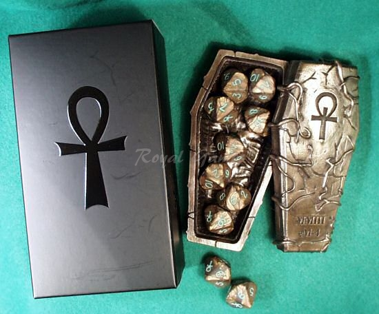 Sarcophagus Bronze with 10 Vampires Dice