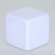 Opaque plastic blank dice square cornered