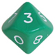 Multi-sided dice 10 faces Opac
