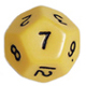 Multi-sided dice 12 faces Opac