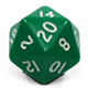 Multi-sided dice 20 faces Opac