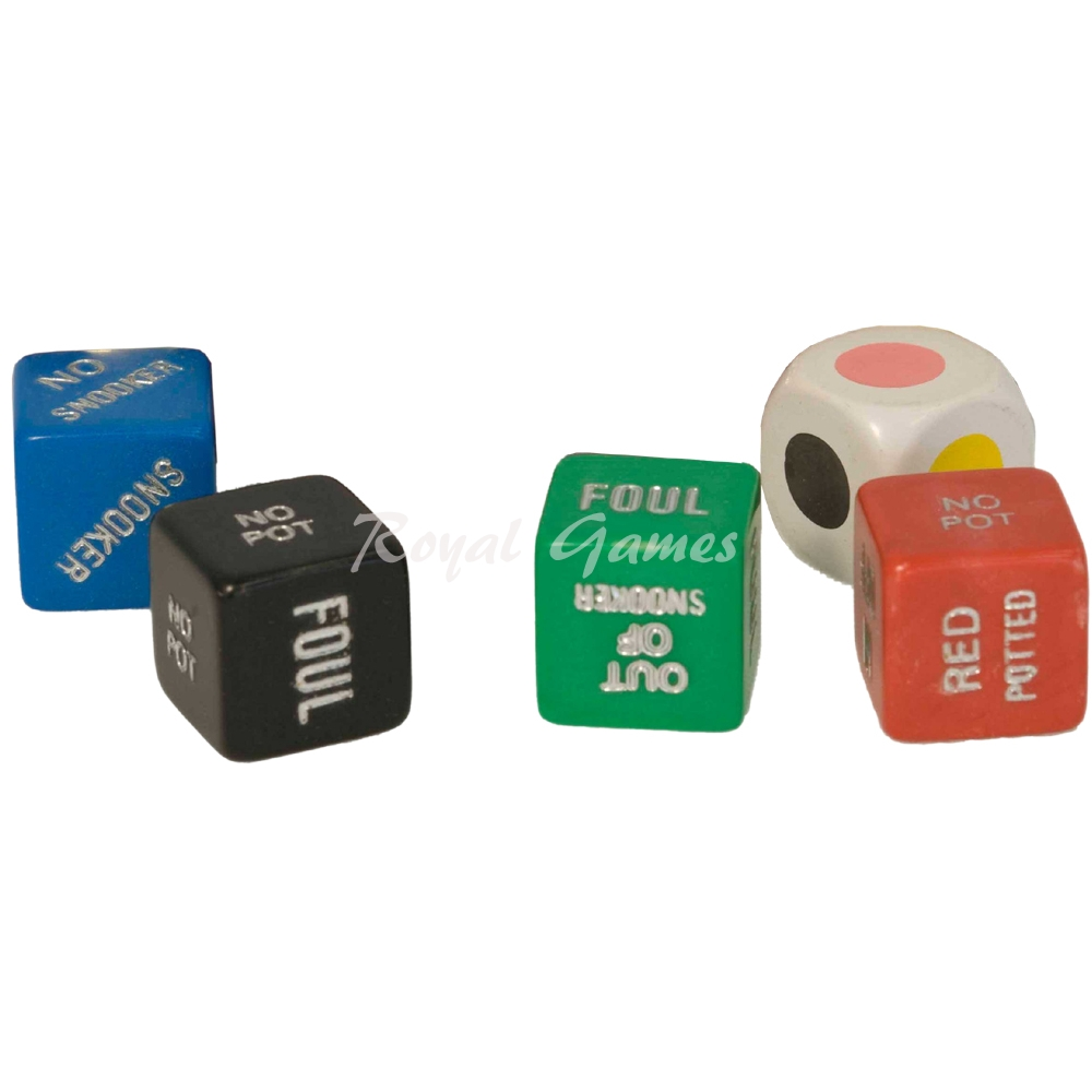 Set 5 SNOOKER dice sport
