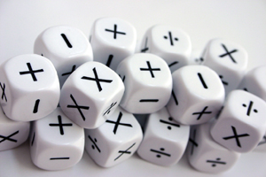 Mathematical dice